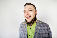 Fat man with beard Stock Photography
