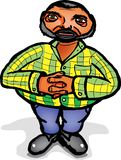 Fat man with a beard in a striped shirt Stock Image