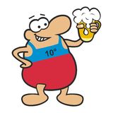 Fat Man and beer Royalty Free Stock Photos