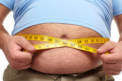 Fat man with a big belly. Stock Photography