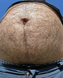 Fat man with a big belly Stock Image