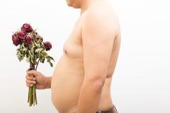 Fat man broken heart. Stock Photography