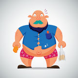 Fat man character Royalty Free Stock Images