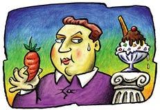 Fat man deciding Royalty Free Stock Image