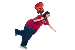 Fat man with guitar Stock Image