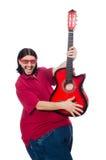 Fat man with guitar Stock Photos