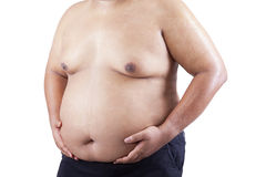 Fat man holding his stomach 1 Stock Photography