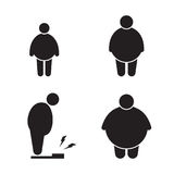 Fat man icons Royalty Free Stock Image