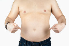 Fat man isolated Stock Images