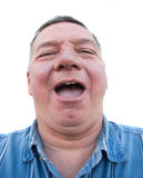 Fat Man Laughing royalty free stock images