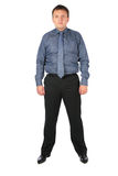 Fat Man in office clothes Stock Image
