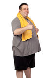 Fat man playing sport Stock Images