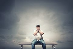 Fat man Royalty Free Stock Images