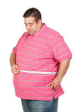 Fat man with a tape measure Royalty Free Stock Photos