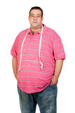 Fat man with a tape measure Stock Image