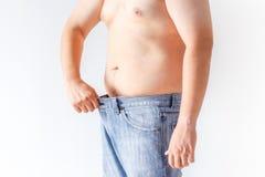 Fat man on white background Royalty Free Stock Photo