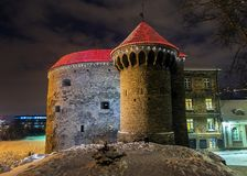 Fat Margaret decorated for Christmas, Tallinn royalty free stock photo