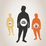 Fat men Stock Image