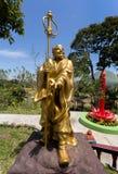 Fat monk statue in complex Pagoda Ekayana Stock Photos