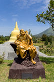 Fat monk statue in complex Pagoda Ekayana Royalty Free Stock Photography