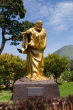 Fat monk statue in complex Pagoda Ekayana Stock Photo