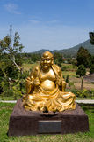 Fat monk statue in complex Pagoda Ekayana Royalty Free Stock Photos