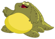 Fat monster Stock Image