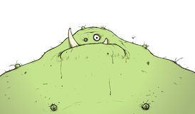 FAt Monster With Sharp tusk Like Teeth Cartoon Stock Photo