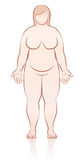 Fat Naked Woman Frontal View Illustration Royalty Free Stock Photos