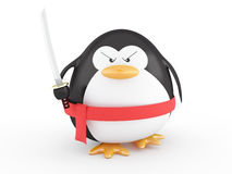 Fat ninja penguin Stock Photos