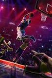 Fat non professional basketball player in action. Fun. Broken ba royalty free stock photo