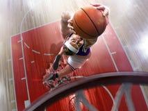 Fat non professional basketball player in action. Fun. Broken ba. Sketball court floor fun picture stock photos