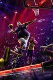 Fat non professional basketball player in action. Fun. Broken ba royalty free stock image