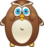 Fat Owl. A brown fat owl smiling Royalty Free Stock Photos