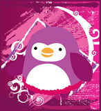 Fat Penguin Pink Stock Photography