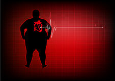 Fat people with heart disease abstract background Royalty Free Stock Photos