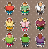 Fat people stickers Royalty Free Stock Photo