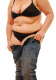 Fat person royalty free stock photo