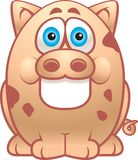 Fat Pig. A spotted fat pig smiling Stock Photos