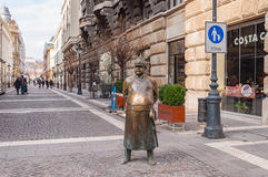 The Fat Policeman Statue in Budapest, Hungary Royalty Free Stock Photo
