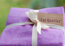Fat quarter. Royalty Free Stock Photo