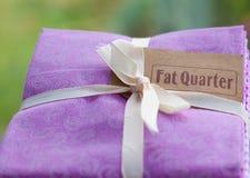 Fat quarter. Royalty Free Stock Photo