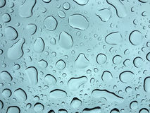 Fat raindrops on window Royalty Free Stock Photo