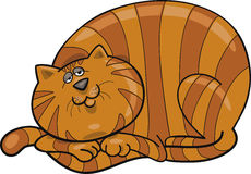 Fat red cat. Cartoon illustration of happy fat red cat Royalty Free Stock Images