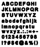 Fat Retro Bubble Font Big & Small Letters with Signs & Numbers Stock Photography