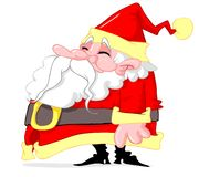 Fat santa claus royalty free stock image