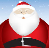 Fat santa close up Stock Photography
