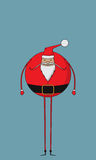Fat santa. Fat and jovial Santa character Royalty Free Stock Photos