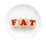 FAT sign Royalty Free Stock Photo