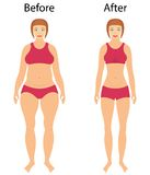 Fat and slim woman Stock Photos